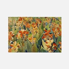 Maurice Prendergast Bed Of Flower Rectangle Magnet