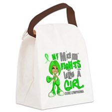 D Mom Fights Like Girl Lymphoma 4 Canvas Lunch Bag