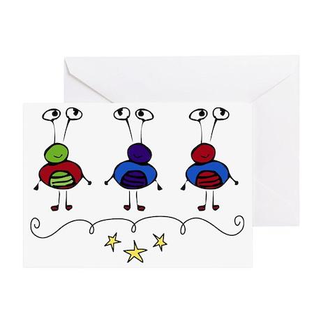 Alien Triplets Greeting Card