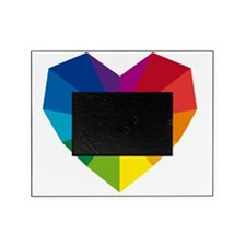 colorful geometric heart Picture Frame