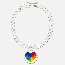 colorful geometric heart Bracelet