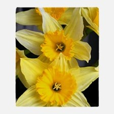 Daffs in a line Throw Blanket