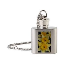 Daffs in a line Flask Necklace