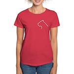 Cane Corso Outline Women's Dark T-Shirt