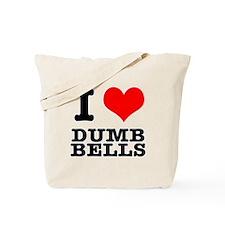 I Heart (Love) Dumb Bells Tote Bag