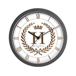 Napoleon initial letter H monogram Wall Clock