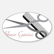 Shear Genius Sticker (Oval)