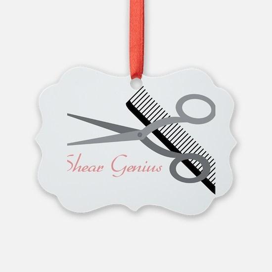 Shear Genius Ornament