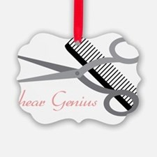 Shear Genius Picture Ornament