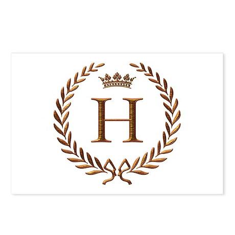 Napoleon initial letter H monogram Postcards (Pack