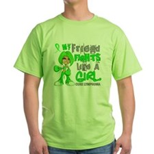 D Friend Fights Like Girl Lymphoma 4 T-Shirt