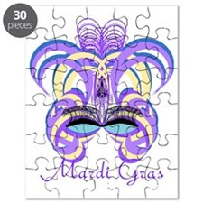 Mardi Gras Purple Feather Mask Puzzle