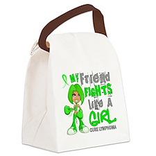 D Friend Fights Like Girl Lymphom Canvas Lunch Bag