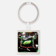 Meep Meep Racing Car Square Keychain