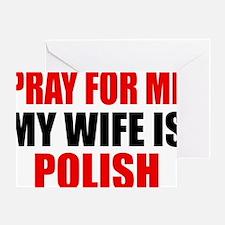 Pray Wife Polish Greeting Card