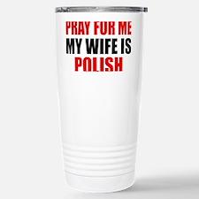 Pray Wife Polish Travel Mug