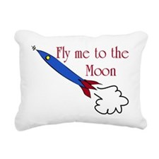 Fly me to the Moon Rectangular Canvas Pillow