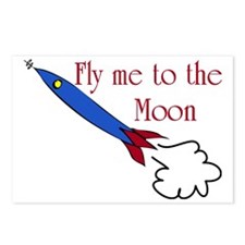 Fly me to the Moon Postcards (Package of 8)