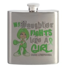 D Daughter Fights Like Girl Lymphoma 42.9 Flask