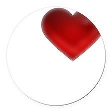 I Heart Cape Breton Island Round Car Magnet