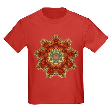 Groovy Tie Dye Art Kids Dark T-Shirt