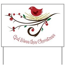 God Bless this Christmas Yard Sign