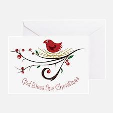 God Bless this Christmas Greeting Card