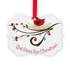 God Bless this Christmas Ornament