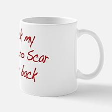 I rock Superhero Scar -Red Mug