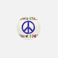 1963 Hippie Chick Mini Button