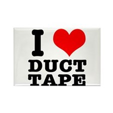 I Heart (Love) Duct Tape Rectangle Magnet