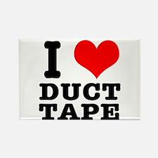 I Heart (Love) Duct Tape Rectangle Magnet