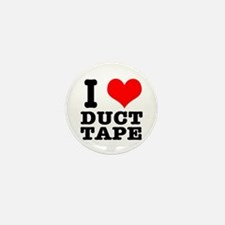 I Heart (Love) Duct Tape Mini Button (10 pack)