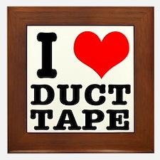 I Heart (Love) Duct Tape Framed Tile