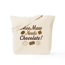 MeeMaw Chocolate Tote Bag
