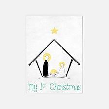 My 1st Christmas 5'x7'Area Rug