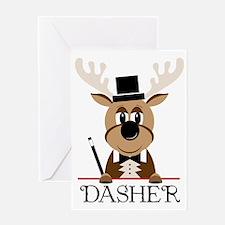 Dasher Greeting Card