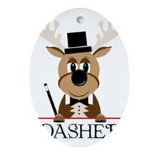 Dasher Oval Ornament