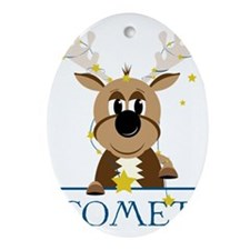 Comet Oval Ornament
