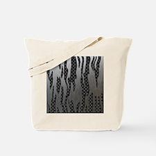 Carbon Aluminum Tiger Stripes Tote Bag
