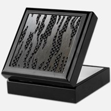 Carbon Aluminum Tiger Stripes Keepsake Box