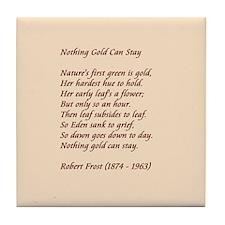 Nothing Gold Tile Coaster