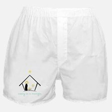 Away In A  Manger Boxer Shorts