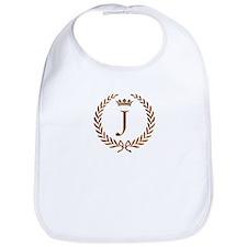 Napoleon initial letter J monogram Bib