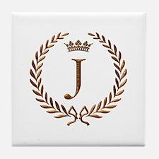 Napoleon initial letter J monogram Tile Coaster