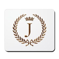 Napoleon initial letter J monogram Mousepad