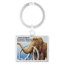 1994 Canada Woolly Mammoth Post Landscape Keychain