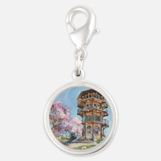 Patterson Park Pagoda Silver Round Charm