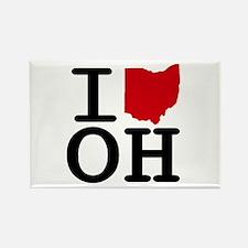 I Heart Ohio Rectangle Magnet (10 pack)