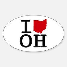 I Heart Ohio Oval Decal